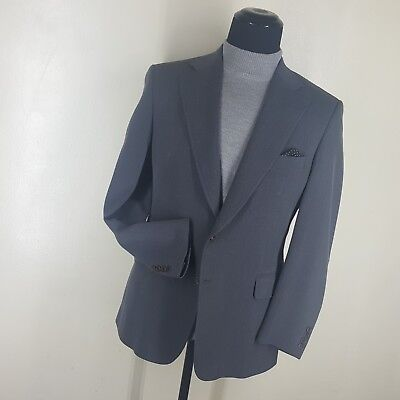 PAUL STUART Vintage Gray Sport Jacket 2 Btn. Side Vents 80% Wool 20%Cotton  41 R