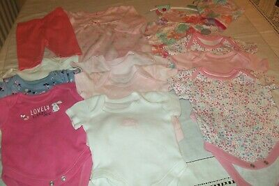 Baby girl clothes George/Matalan bodysuits newborn -combined postage available