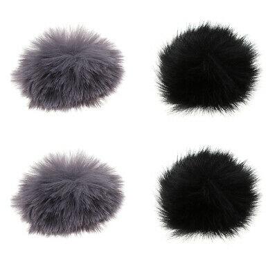 4Pcs Outdoor Microphone Fur Windscreen Cover Windshield Muff for Lapel Mic