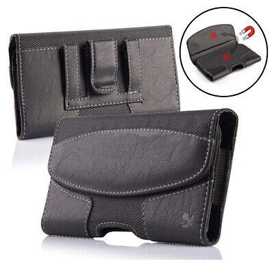 Heavy Duty Horizontal Cell Phone Pouch Case Holder Holster Carrying Belt Clip