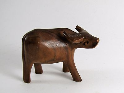Small Hand Carved Wooden Water Buffalo