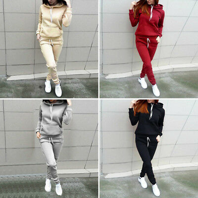 Femme Survêtement Jogging Ensemble Sweat à Capuche Sport Haut Pantalon Pull