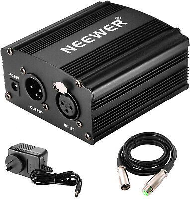 Neewer Phantom Power Kit includes:1-Channel 48V Phantom Power Supply with and