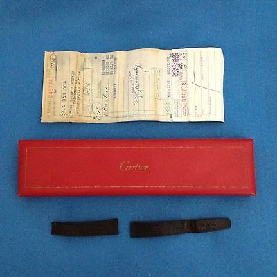 Vintage CARTIER * Signed WATCH BAND & Signature RED BOX * Original Sales Slip *