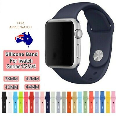 Replacement Silicone Band Strap Apple Watch Series 4 3 2 iWatch 38/40mm 42/44mm