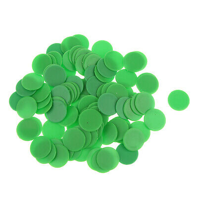 100 Opaque Plastic Board Game Counters Tiddly winks Numeracy Teaching Green