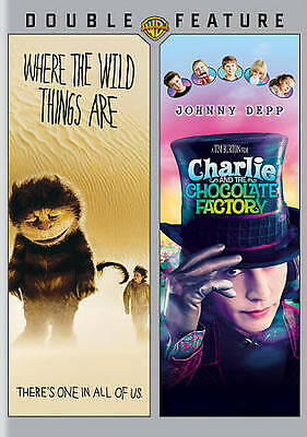 Where the Wild Things Are  Charlie and the Chocolate Factory [DVD] NEW FREE SHIP