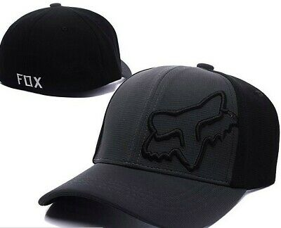 NEW Baseball Cap FOX² Embroidery strapback adjustable hat BLACK T2