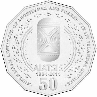 2014 Australian 50 Cent Coin Coin - 50th anniversary of AIATSIS FROM MINT ROLL