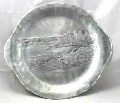 Wendell August Forged  Aluminum Pittsburgh Coaster Tray Handmade USA 12.5 x 11.5
