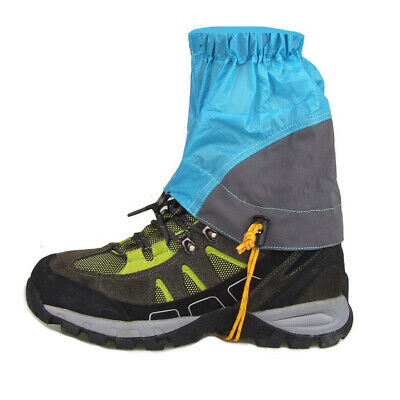 2pcs Outdoor Waterproof Ankle Walking Gaiters Hiking Shoes Cover