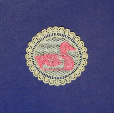 Embroidered Lace Duck Applique - Patch - EB3