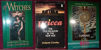 LOT OF 3 Witchcraft Books Magick spells magic Wicca Ritual