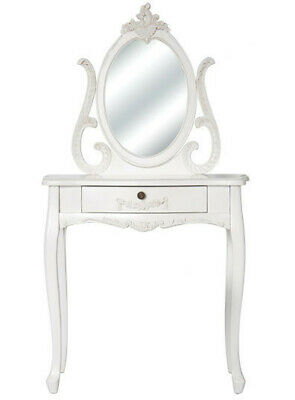 NEW Dressing Table with Mirror in White - Bouquet House,Dressing Tables