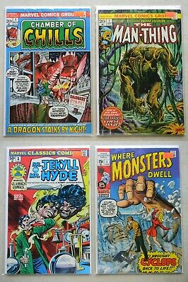 Chamber of Chills MAN-THING #1 $115.00 LOT Marvel Classic WHERE MONSTERS DWELL 1
