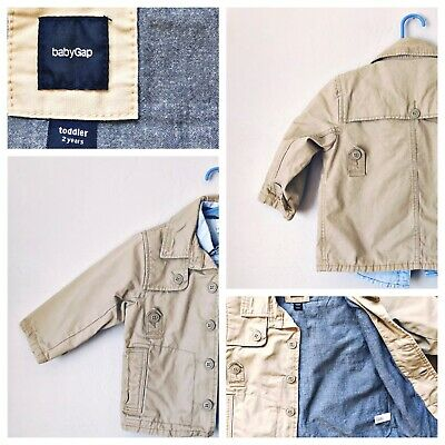 Baby Gap 2T Khaki Jacket Blazer Gymboree Chambray Shirt Toddler 2 Pieces Boys