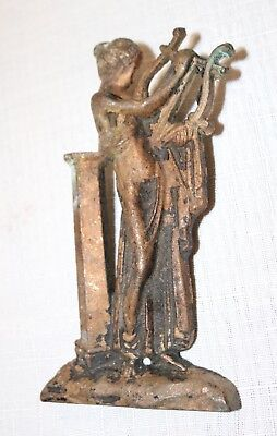 antique 1800 bronze brass figural lady architectural furniture salvage appliqué