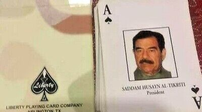 Desert Storm Iraqi Most Wanted Playing Cards Camo Military