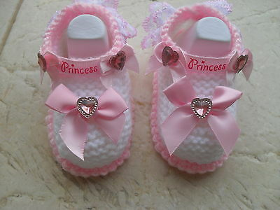 Knitting Pattern Instructions Baby Girl Princess Shoes/Booties 3 Sizes