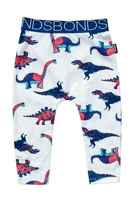 Bonds Stretchies Dino Time Dinosaur White Leggings Size 1 BNWT