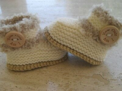 Knitting Pattern Baby Booties Quick Easy Makes Three Sizes