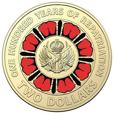 2019 Australian 2 Dollar Coin - A Century of Repatriation - UNC from Mint bag