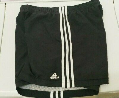 Adidas Shorts Boys Size 12 Black With White Stripes. Very good condition