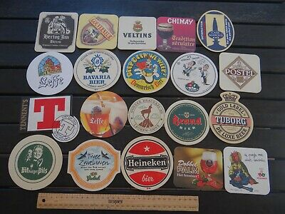 20 x MIXED COLLECTABLE BEER COASTERS / MATS JW5