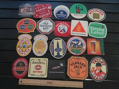 20 x MIXED COLLECTABLE BEER COASTERS / MATS JW6