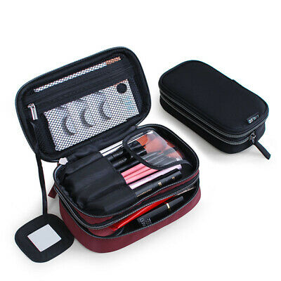 Portable double-layer waterproof wash bag mini travel cosmetic case storage bag