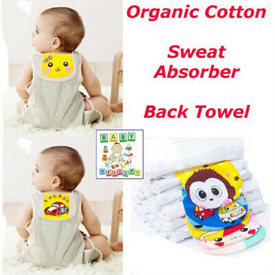 Cartoon Baby Back Towel Kids Cotton Sweat Absorber Anti-cold FO