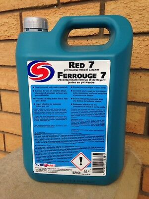 Autosmart Red 7 NEW PH NEUTRAL Wheel Cleaner and Fallout Remover 5 L