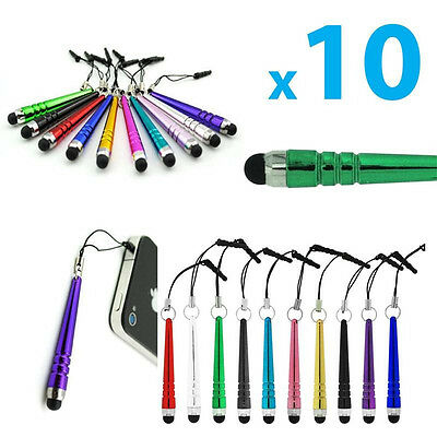 10Pcs Universal Metal Touch Screen Stylus Pen For All Pad Phone PC Tablet