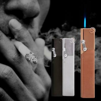 Portable Fashion Slim Windproof  Refillable Jet Torch Gas Cigarette Lighter