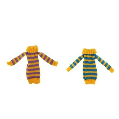 Handmade Knitted Girl Doll Sweater Outfits for 12inch Doll DIY Dress-up Accs