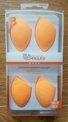 Real Techniques Make Up Brushes 1/2/4/6Pcs Miracle Complexion Puff Sponge Blende