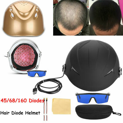 45-160 Diodes Laser Cap Hair Loss Regrowth/Growth Treat Helmet Alopecia Therapy