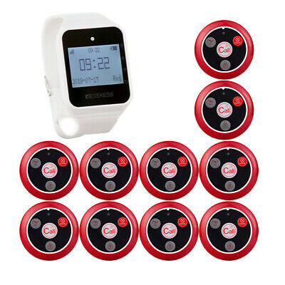 Restaurant Calling Pager Waiter Service System 1* Watch+10* Call Button PagerHOT