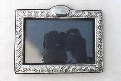 Solid Silver Photo Photograph Frame Silver 18Cms By 14Cms
