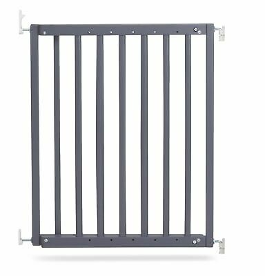 Safetots Chunky Wooden Screw Fit Stair Safety Gate Grey 63.5cm-105.5cm RETURN