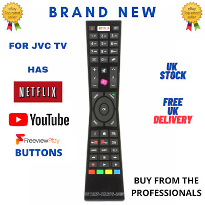 Budget Replacement RMC3231 RM-C3231 Remote Control for JVC Smart 4K LED TVs