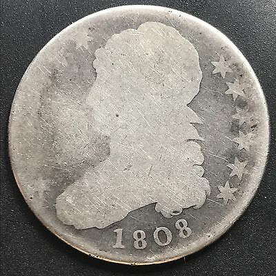 1808 Capped Bust Half Dollar 50c circulated #6249