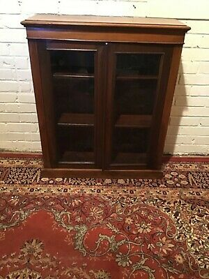 Antique Mahogany  glass door Bookcase Good Condition