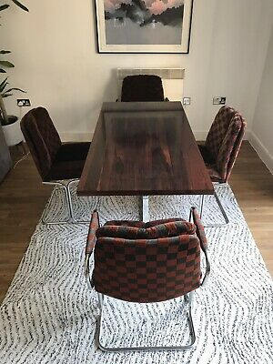 Stunning Pieff rosewood and chrome dining table. Vintage retro Danish style