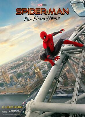"Affiche cinema ""Spider-Man Far From Home"" roulée 120x160 cm environ"