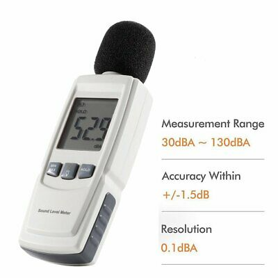Test Technologies LCD Backlight Digital Sound Noise Level Describe Meter TO