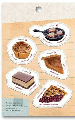 NEW! SWEET CANADA 2019 =PIE=CAKE=DESSERTS= Left Booklet page of 5 stamps MNH-VF+