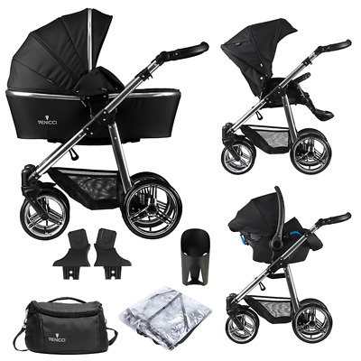 Venicci Pram Silver Edition 3 in 1 Travel System – Black