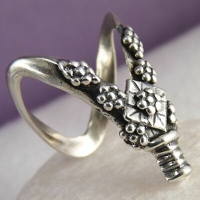 DOUBLE WISHBONE RING Size US 8 1/2 SILVERSARI Thumb Solid 925 Sterling Silver
