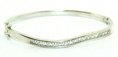 Thin Bracelet Bangle Anklet Silver Plated Wavy .7.5 inch.Beautiful 925 Sterling